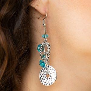 Seaside Catch Blue Earrings